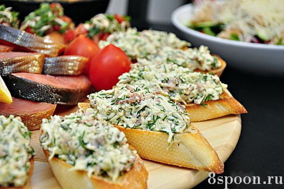 Бутерброды для праздничного стола с печенью трески