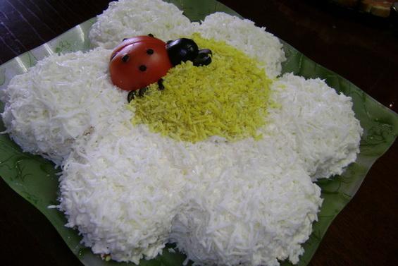 салат ромашка рецепт
