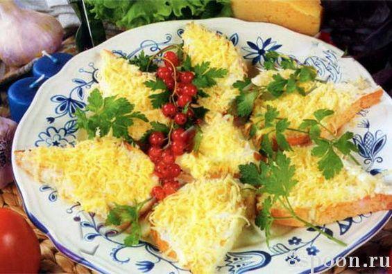 Праздничные бутерброды с сыром и чесноком