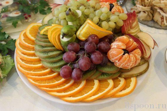 Как красиво уложить фрукты на блюде