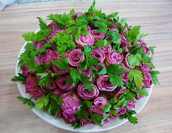 Салат букет роз фото