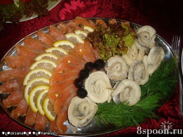 Красиво нарезать рыбу на стол пошаговое