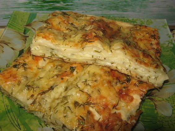 Сырный пирог из лаваша