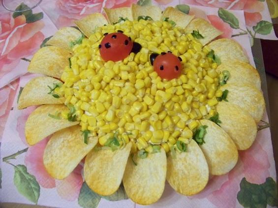 салат подсолнух