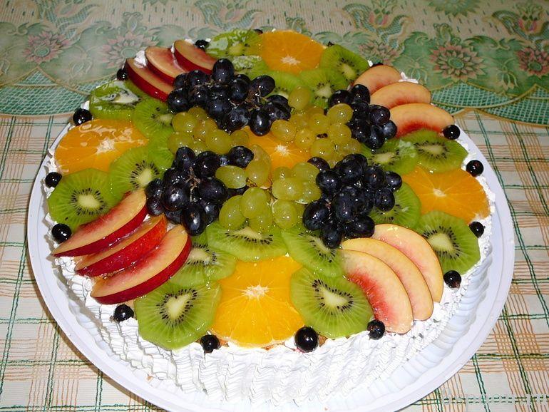 Торт из фруктов своими руками пошагово 898