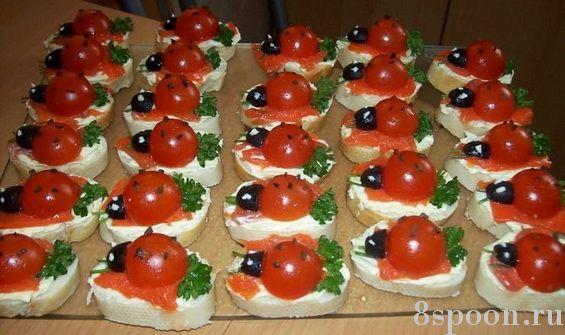 маленькие бутерброды семгой рецепты с фото