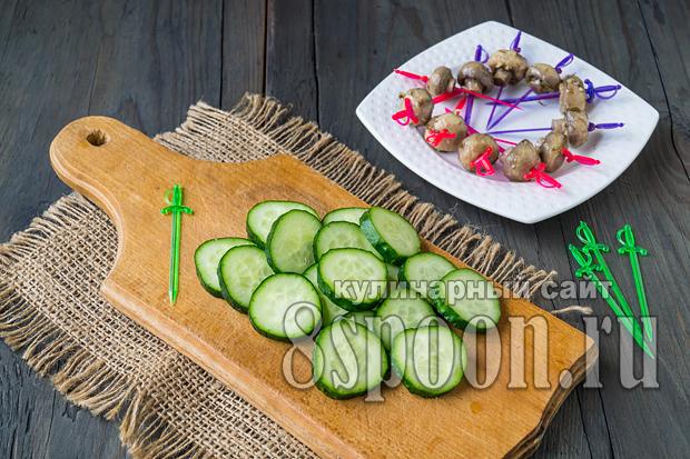 Закуска грибная полянка рецепт с фото