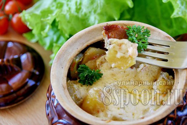 Блюда в горшочках в духовке со свининой