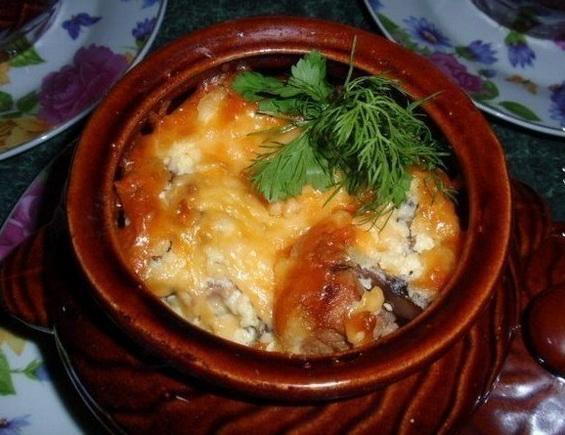 Мясные горшочки духовке рецепты с фото