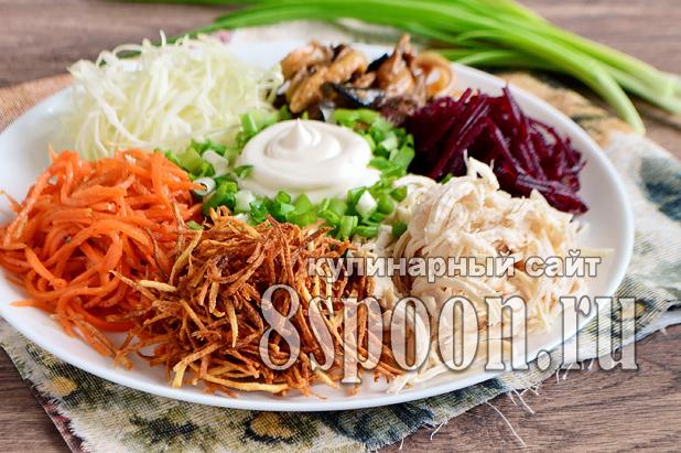 салат кучками рецепт с фото пошагово_7