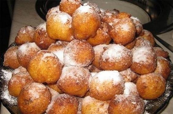 Творожные пончики из детства