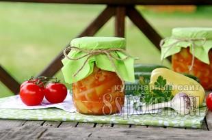 Лечо из кабачков на зиму с томатной пастой: рецепт с фото