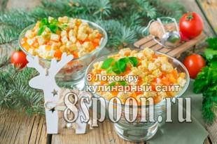 """Салат с помидорами и сухариками """"Астра"""" фото"""