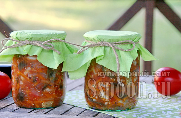 салат на зиму из баклажан и фасоли фото 16