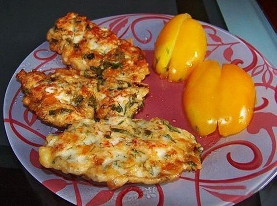 Куриные оладьи с сыром на кефире4_новый размер