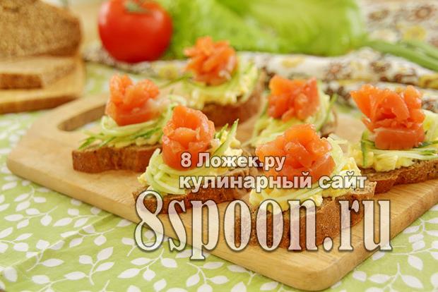 Бутерброды с красной рыбой «Розочки» рецепт с фото