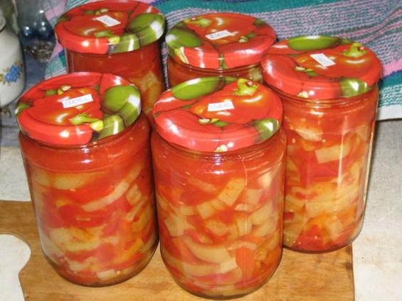 Лечо на зиму из болгарского перца (классические рецепт)