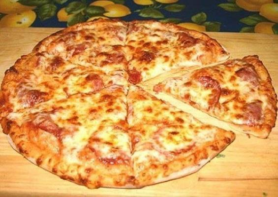 Быстрое тесто на кефире для пиццы