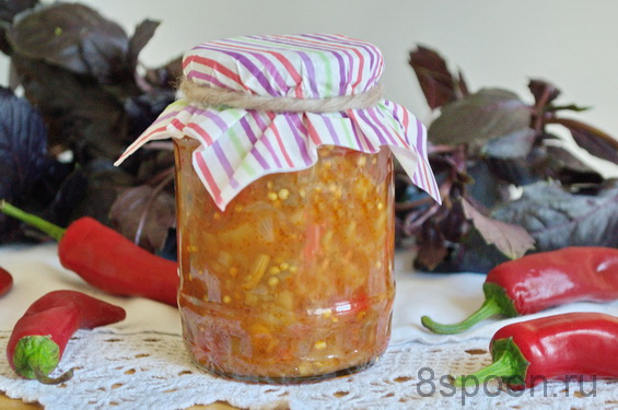 Салат из баклажанов на зиму «Сентябрьский»