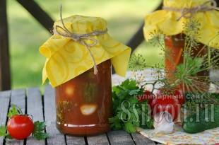 Маринованные огурцы с томатной пастой на зиму_9