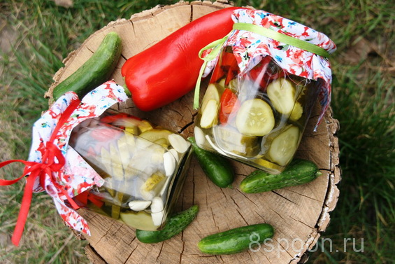салат из огурцов и перцев фото 2