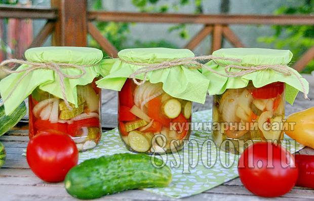 Овощное ассорти на зиму огород в банке фото 12