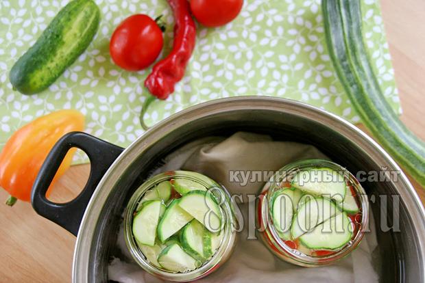 Овощное ассорти на зиму огород в банке фото 5