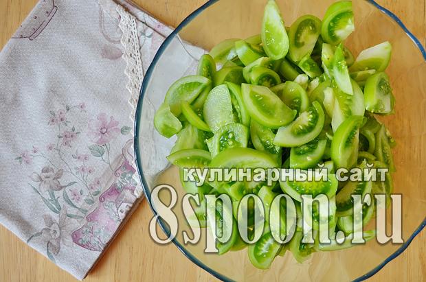 Зеленые помидоры на зиму с чесноком и острым перцем «Кобра»_1