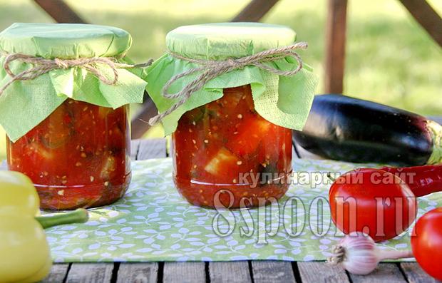 Баклажаны в томатном соке на зиму рецепт с фото_01