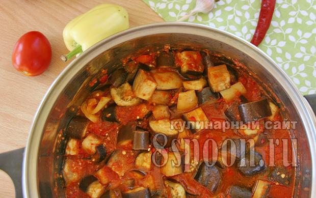 Баклажаны в томатном соке на зиму рецепт с фото_10