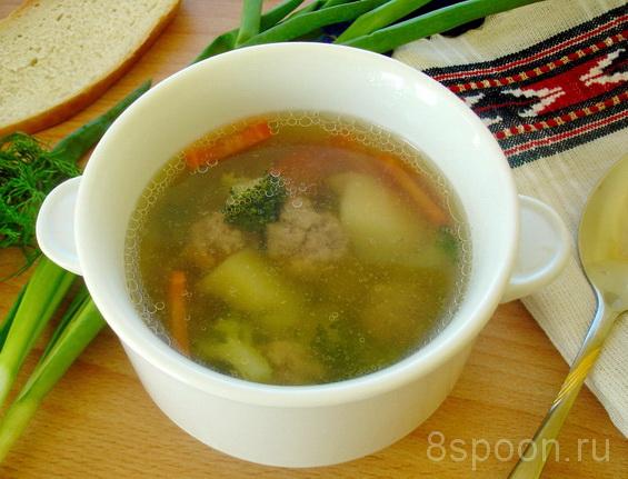 суп с брокколи и фрикадельками фото 6