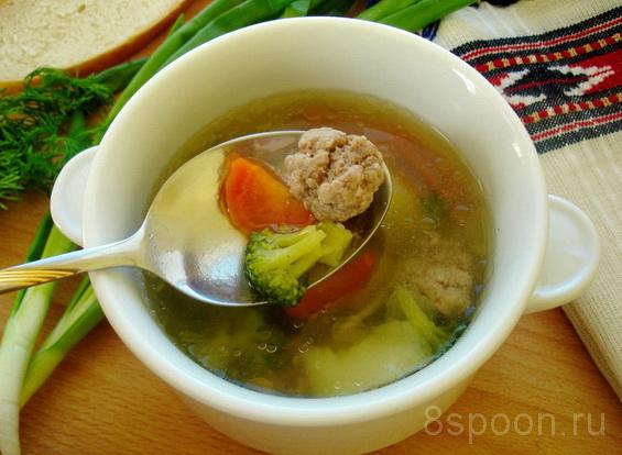 суп с брокколи и фрикадельками фото 7