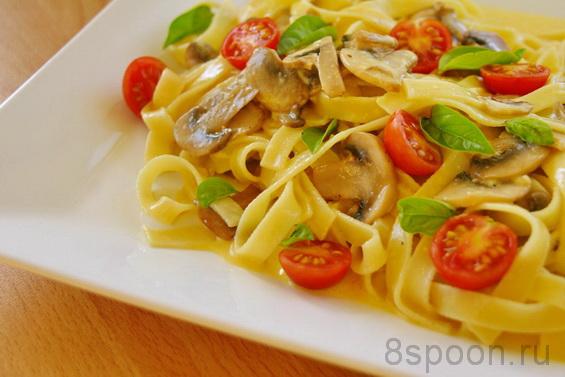 паста с грибами с соусом из пармезана фото 19
