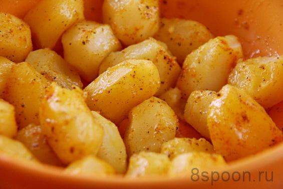 Горбуша, запеченная в духовке с картошкой - 8 Ложек
