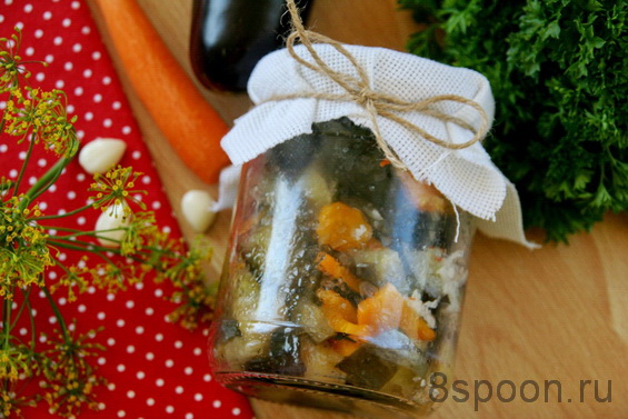 баклажаны с морковью фото 13