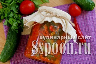 Лечо из огурцов на зиму фото_01