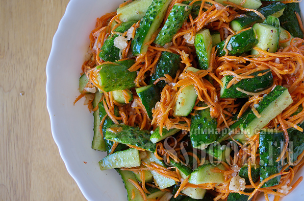 Салат огурцы по-корейски на зиму без стерилизации рецепты