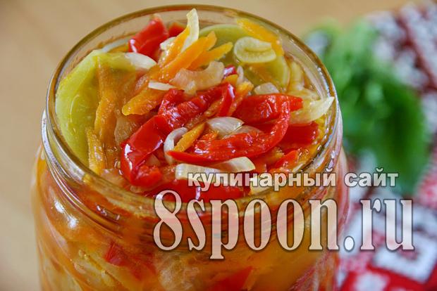 Салат из зеленых помидор на зиму «Краски осени»_7