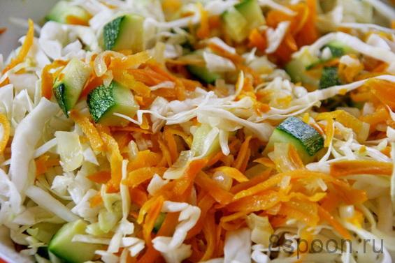 рецепты капуста и кабачки