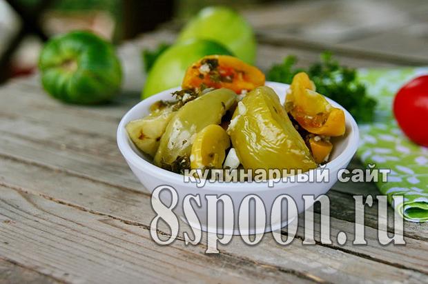 Салат из зеленых помидор на зиму «Вкуснота»_04