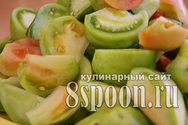 Салат из зеленых помидор на зиму «Вкуснота»_05