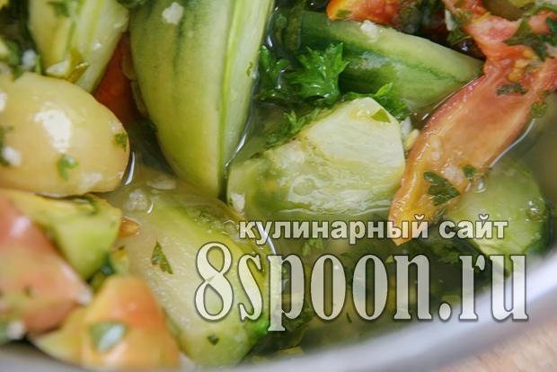 Салат из зеленых помидор на зиму «Вкуснота»_07