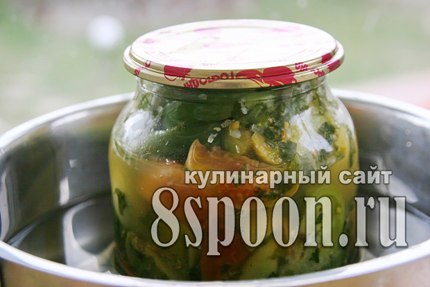 Салат из зеленых помидор на зиму «Вкуснота»_10