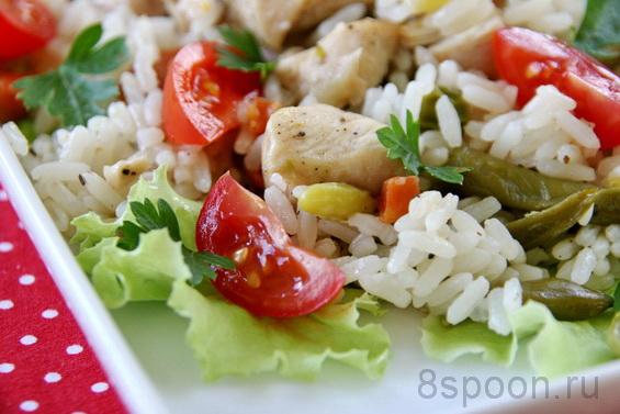 рис с курицей и овощами в духовке фото 11
