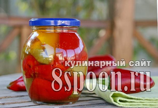 Болгарский перец в масле на зиму фото_03