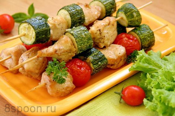 куриные шашлычки с помидорами и кабачками в духовке фото 8