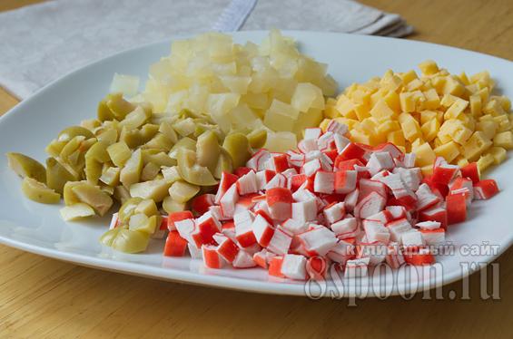 Крабовый салат в тарталетках рецепты с фото