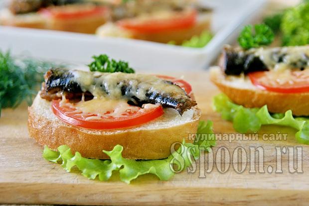 бутерброды со шпротами в духовке фото 11