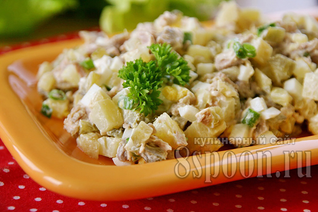 Салат мясной рецепт классический с фото