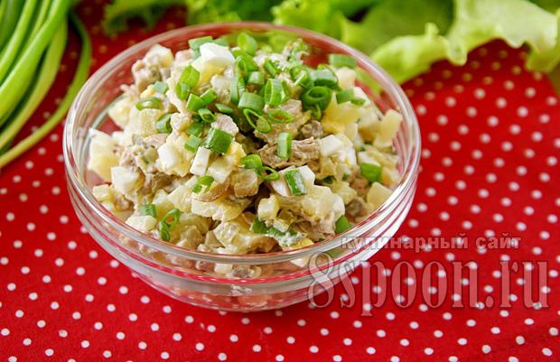 салат мясной рецепт с фото классический рецепт